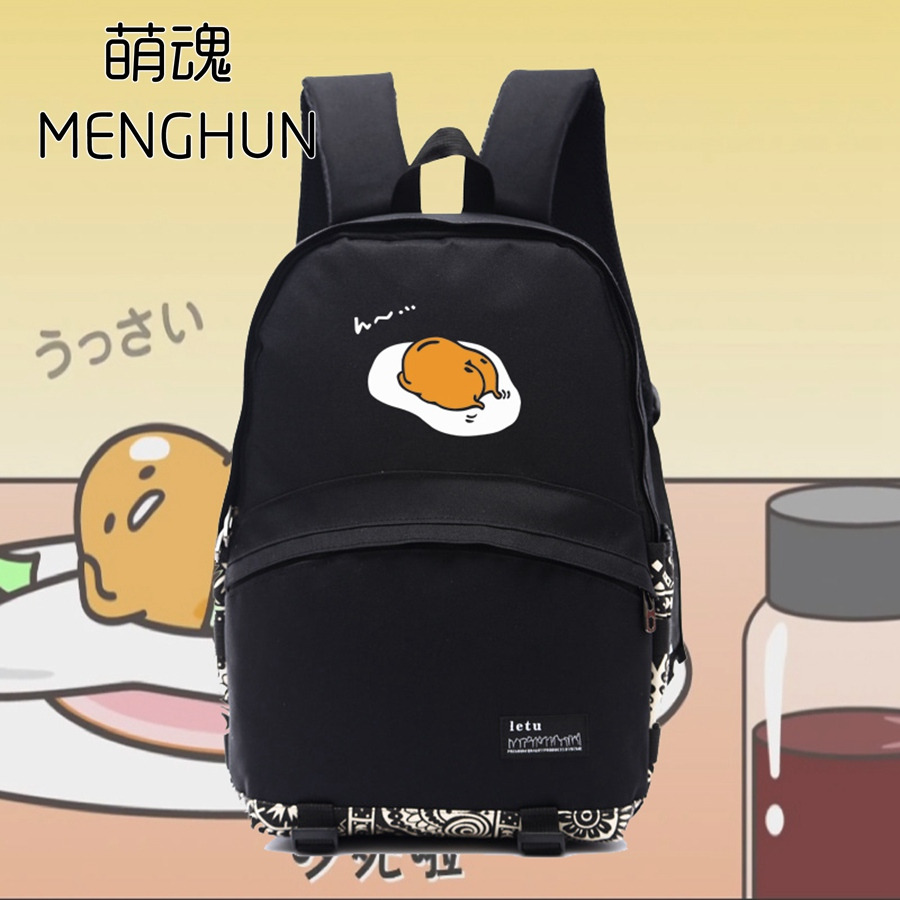 New anime backpacks lazy tama printing bags nylon kawaii backpack black school bag for kids daily wear school bags NB145 цены онлайн