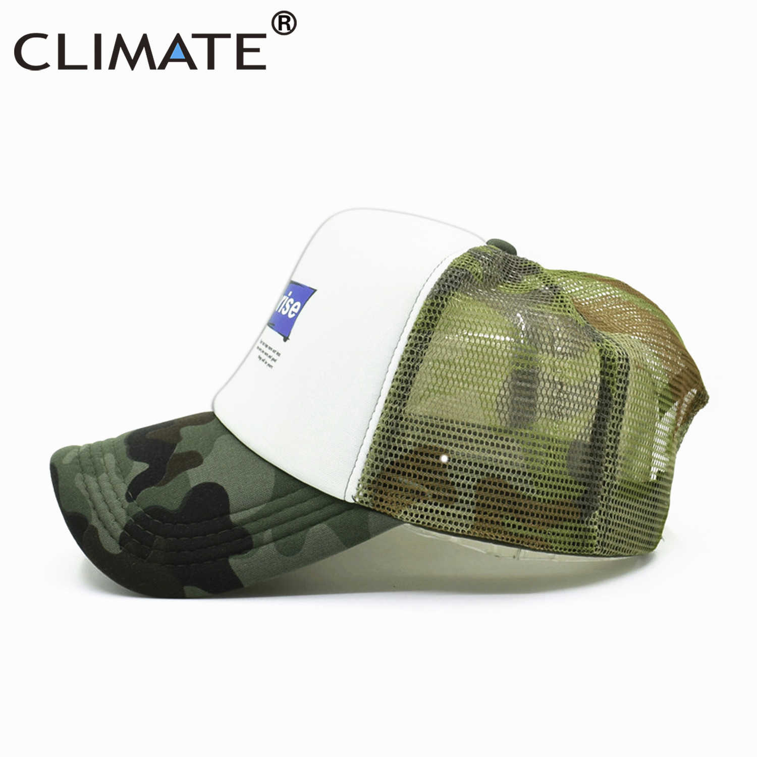 962b1685a CLIMATE New Surprise Trucker Cap Cool Summer Spring Baseball Caps Funny Hip  Hop Camouflage Caps Mesh Hat for Men Women Youth