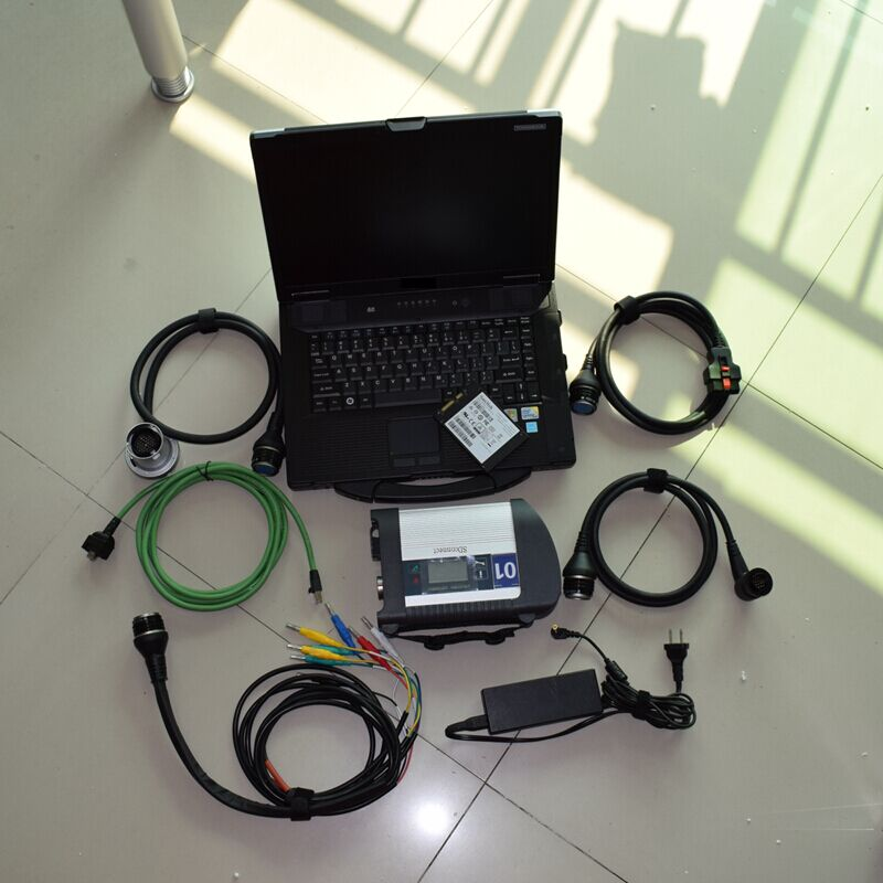 mb star c4 ssd newest software with laptop cf52 car and truck diagnostic computer full set ready to use best quality