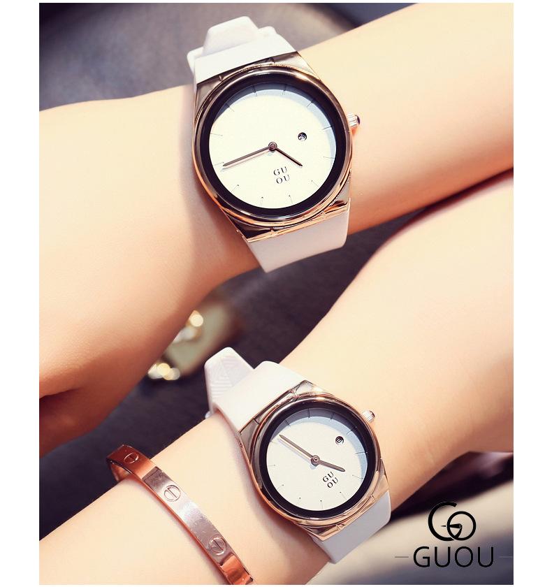 02552faa06b3 GUOU reloj de moda rectángulo señoras reloj de cuarzo de mujer Relojes de  Cuero lujo Dial grande Top mujeres de lujo relogio femininoUSD 22.10 piece