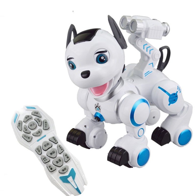 Newest Style IR Remote Control Animal Intelligent Robot Dog K10 Touch Induction Function RC Dog With Walking Dancing Patrol Dog стоимость
