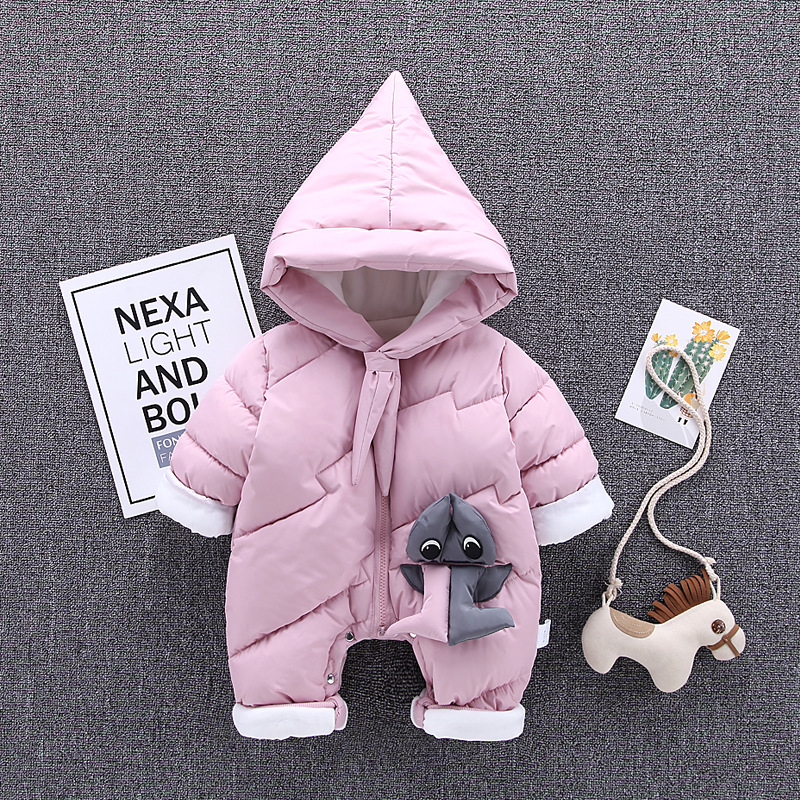 Winter Infant Baby Rompers Clothes Newborn Baby Boy Girl Jumpsuit Overalls 2018 New Thick Warm Kid Toddler Outdoor Outerwear