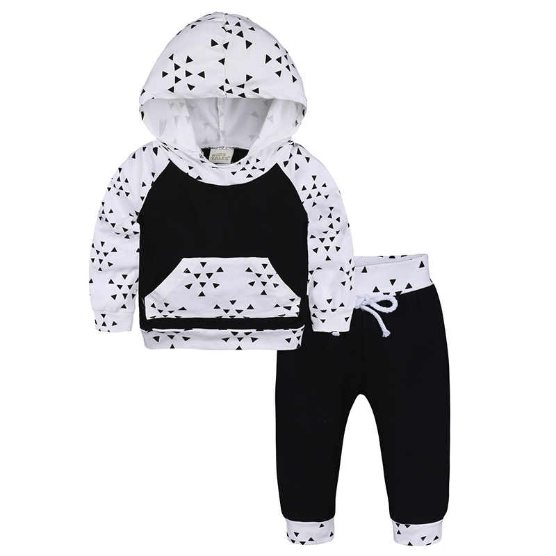 2pcs Baby Boy Girl Clothing Suits Baby Boys Newborn Suits Hooded Tops +Pants Outfits Set Suit Baby Boy Clothes Newborn Clothes