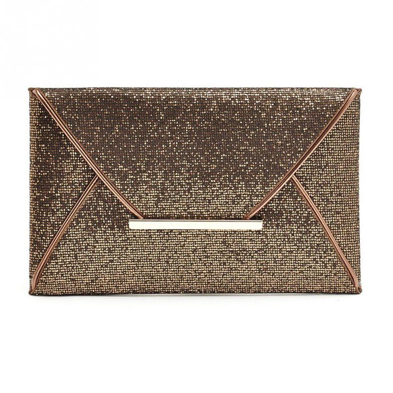 Fashion Sequin women clutch bag leather women envelope bag clutch evening bag female clutches handbag(China)