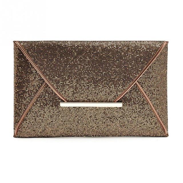 Fashion Sequin women clutch bag leather women envelope bag clutch evening bag female clutches handbag