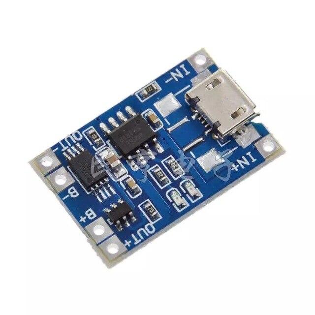 MH-ET en direct 5 pièces MicroUSB 5 V 1A 18650 TP4056 Batterie Au Lithium Chargeur Module Charge Conseil Avec Protection Double