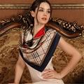 1 unids mujeres de alto grado de seda cuadrado grande scavers shwal bufanda de seda protector solar de moda de señora 90 cm * 90 cm