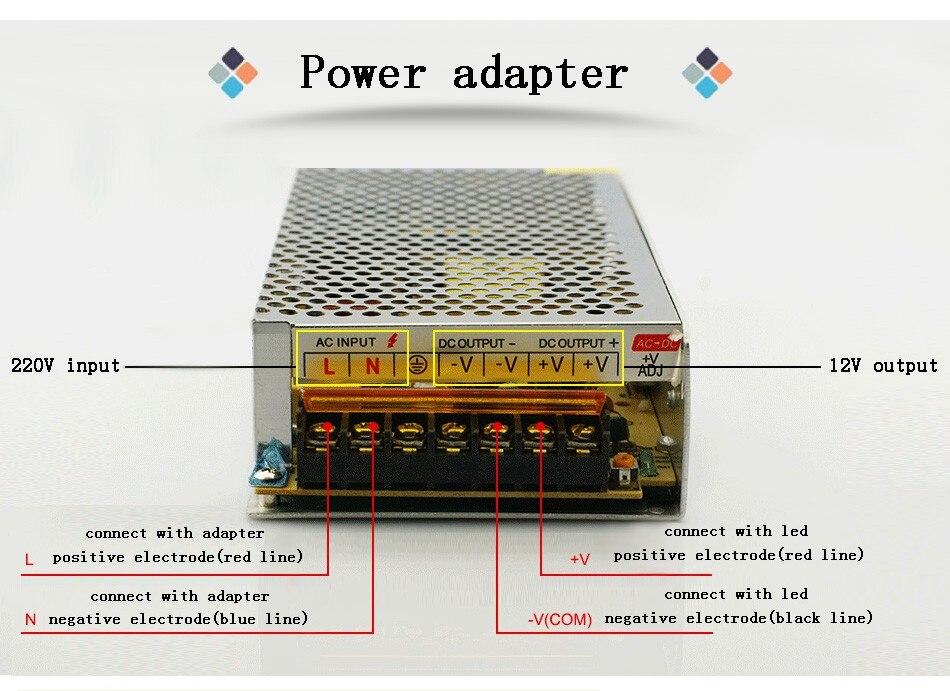 DC 12V LED strip driver Power Adapter 1A 2A 3A 5A 10A 15A 20A Switch Power Supply AC110V-220V 24V Transformer Power 60W 78W 120W(2)