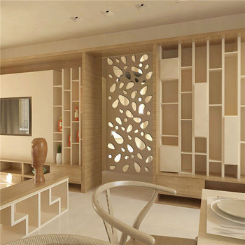 Hot 12Pcs 3D DIY Art  Mirror Vinyl Removable Wall Sticker Decal Home Christmas Decorations for bedrooms 8