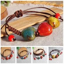 Sale 2017 Fashion Ethnic Style Ceramic Adjustable Beads Rope Bracelets & Bangles For Women Gift
