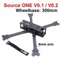 Source ONE V0.1 / V0.2 7inch 300mm carbon Fiber frame Quadcopter Frame Kit with 4mm Arm for FPV Racing Drone