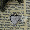 8SEASONS Connectors Findings Heart Antique Silver Transparent Glass Cabochons Setting(Fit 16mm x15mm )26mmx18mm,30 Sets