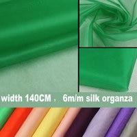 37color 6m M 108cm 100 Silk Organza Fabric