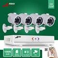 Anran 1080n 4ch ahd dvr hd 6 ir día noche 720 P 1800TVL Exterior Impermeable CCTV Cámara de Seguridad De Vídeo en Color sistema