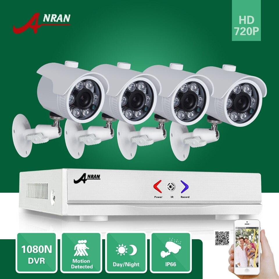 imágenes para Anran 1080n 4ch ahd dvr hd 6 ir día noche 720 P 1800TVL Exterior Impermeable CCTV Cámara de Seguridad De Vídeo en Color sistema