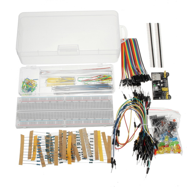 New Arrival Power Supply Module 830 Hole Breadboard Resistor Capacitor LED Kit For Arduino Beginner