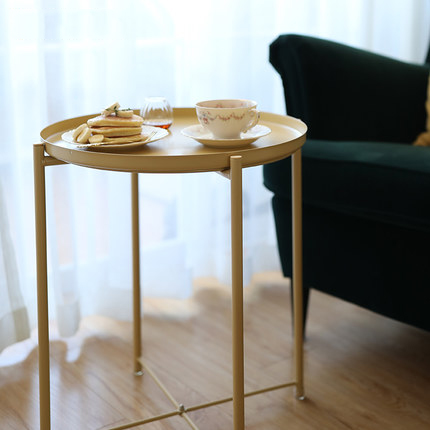 small side table for living room furniture on sale cheap nordic coffee creative mobile bedside tray round wrought iron apartment sofa a fe