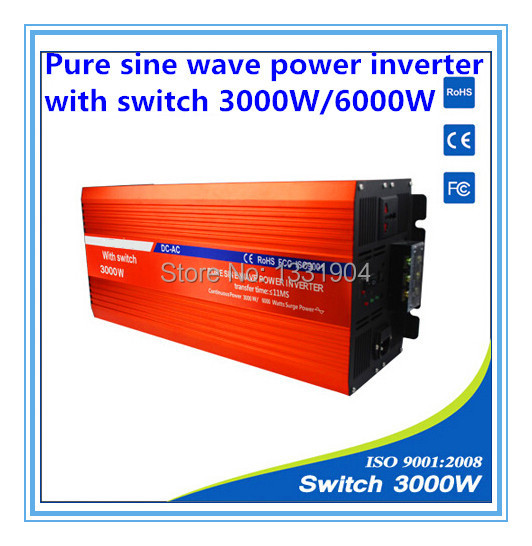 цена на 3000W pure sine wave inverter DC24V to AC220V inverter,solar power inverter with auto transfer switch,car inverter