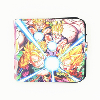 Cheap Wholesale Daragball Hasp Wallet One Piece Luffy Man Designer Wallets Overwatch Naruto RE ZERO Card