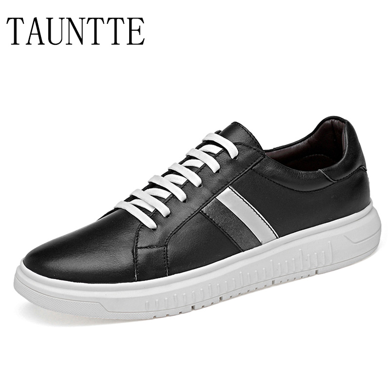 Tauntte Men's Genuine Leather Sneakers Anti-odor Casual Shoes Breathable Fashion Male Shoes fashion men boat shoes genuine leather casual shoes breathable male anti odor casual shoes
