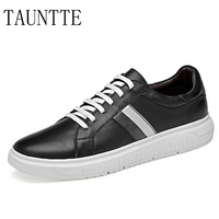 Tauntte Men's Genuine Leather Sneakers Anti odor Casual Shoes Breathable Fashion Male Shoes