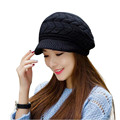 Elegant Womens Winter Rabbit Fur Hat Female Fall Knitted Hats For Woman Cap Autumn And Winter Ladies Fashion Skullies Beanies