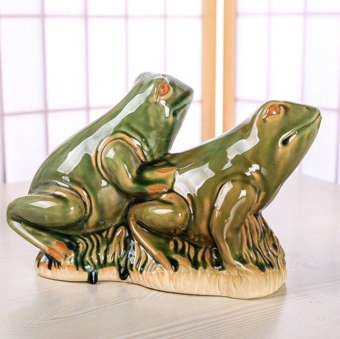 US $38.54 18% OFF|Keramik Sex Frosch Liebhaber Skulptur Porzellan  Geschlechtsverkehr Tier Paar Frosch Statue Kreativität Decor Geschenk  Handwerk ...