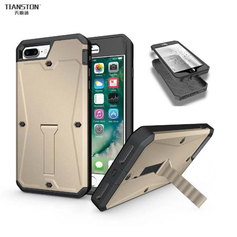 TIANSTON Waterproof Case For iPhone 6 6S 6Plus Built in