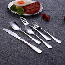 HOMQUEN 20 PCS/SET Gold Stainless Steel Dinner Set Black Knife Fork Cutlery Set Dinnerware Rainbow Tableware Set Service for 4
