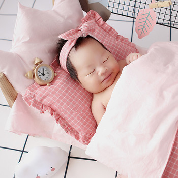 Baby photography props log cute small alarm props accessory  matching baby mini props