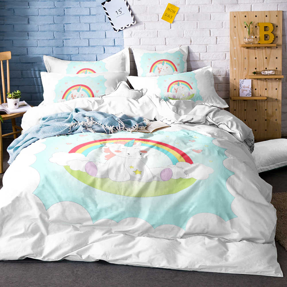 Unicorn Bedding Set Twin Full Queen King Size 3PCS Bedclothes Wholesale Comforter Bedding Sets Dropshipping