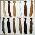 25 см * 100 см кукла парики/волос аксессуары для bjd куклы DIY ремонт natrual цвет толстые Прямые Парики/волос для 1/3 1/4 1/6 BJD куклы