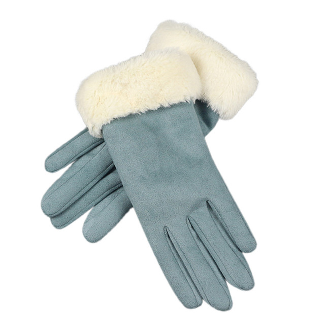 Women Soft Plush Gloves...