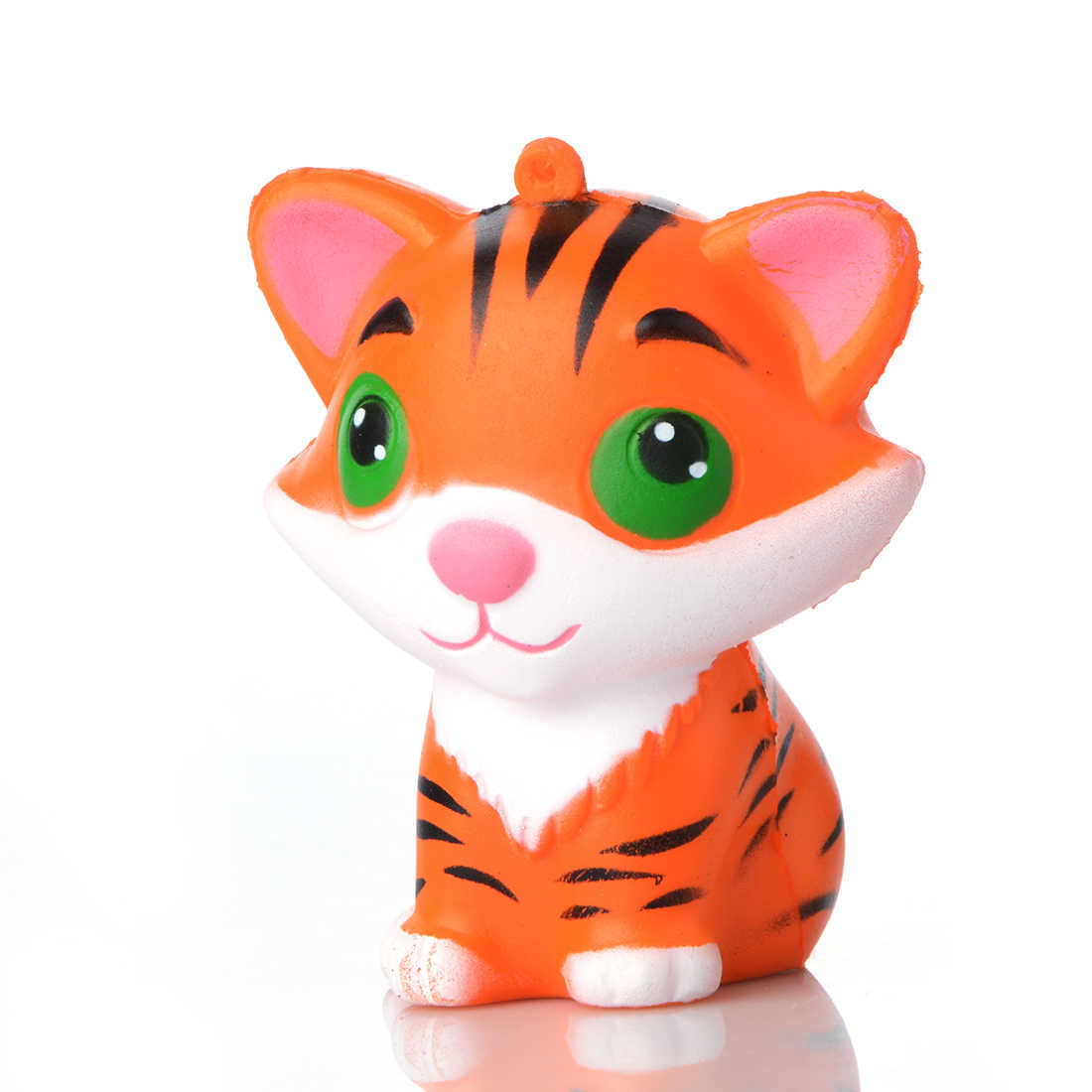 9*7CM Cute Cartoon Tiger Gags Joke Squishy Toy Prop Slow Rising Relieves Stress Kid Children's Day Gift Squishi Party Props