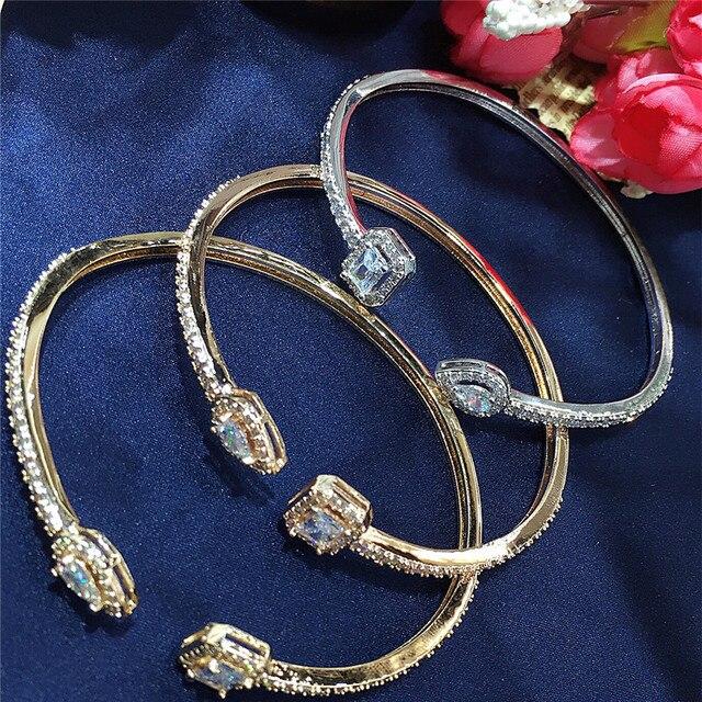 Купить hibrid роскошные открытые браслеты и с кубическим цирконием