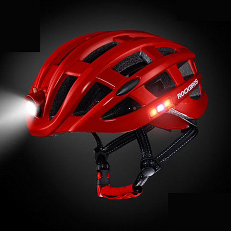 New MTB Bike helmet Male light charging luminous insect screen road safety warning bicycle helmet riding equipment LED UnisexNew MTB Bike helmet Male light charging luminous insect screen road safety warning bicycle helmet riding equipment LED Unisex