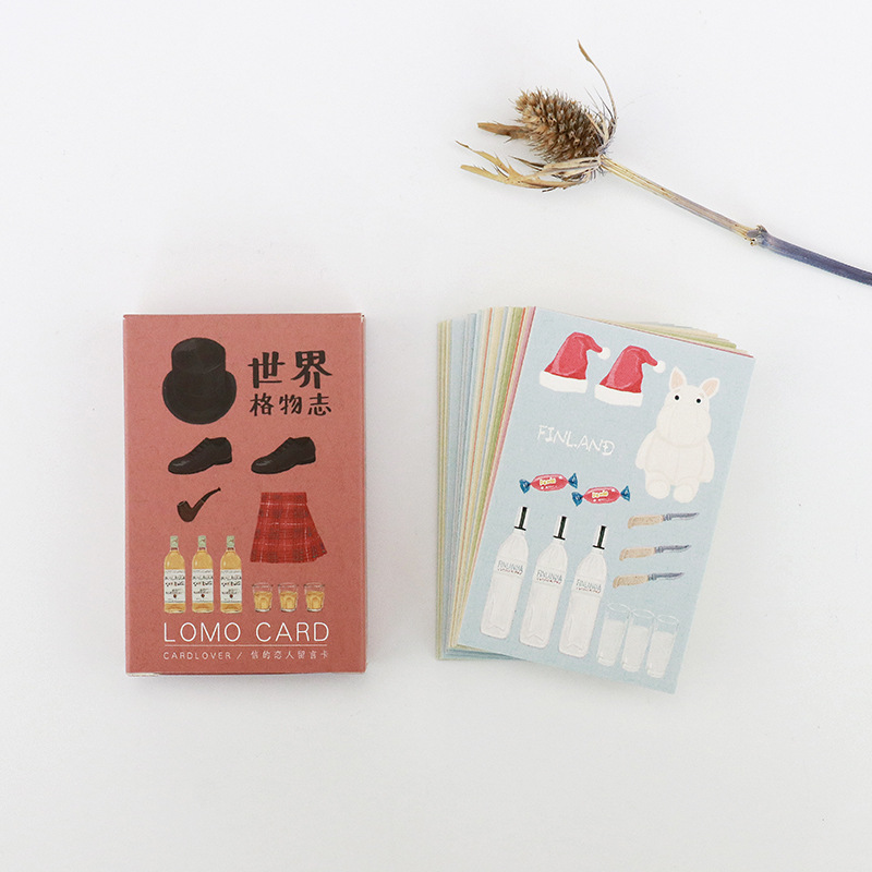 28 sheets/Set Good things in the world Mini Lomo Postcard /Greeting Card/Birthday Letter Envelope Gift Card Message Card