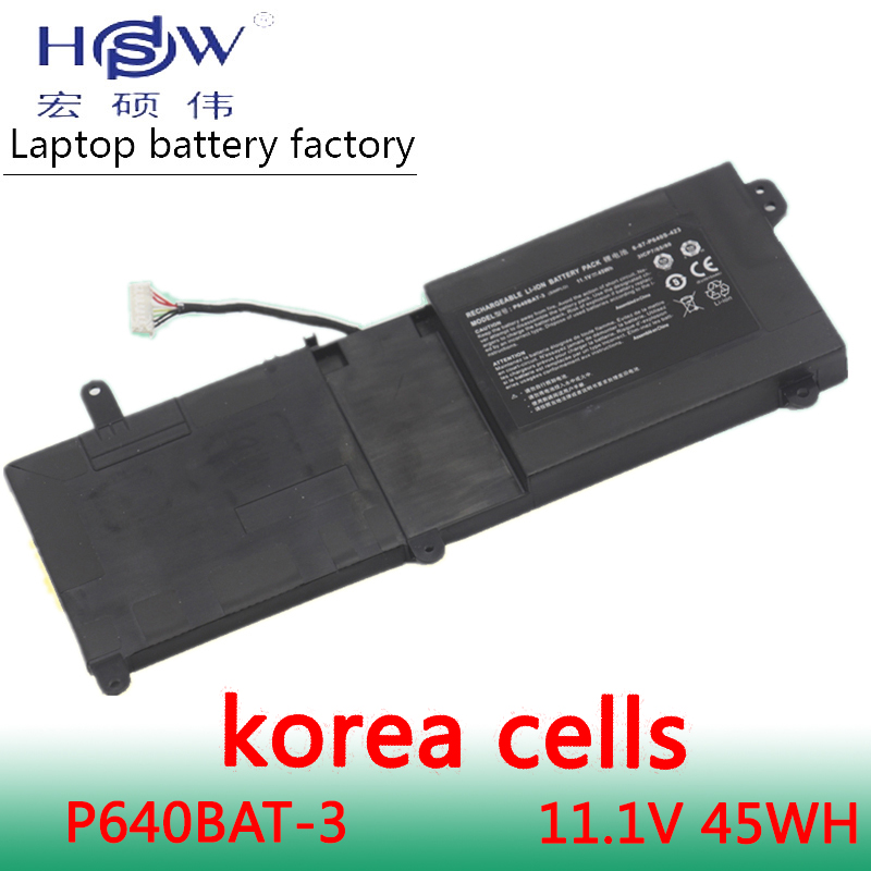 HSW 11.1V 45WH P640BAT-3 Battery for Thunderobot ST-R1 ST 911ST 6-87-P640S-423 3ICP7/65/80 6-87-P640S-42 AKKU origianl clevo 6 87 n350s 4d7 6 87 n350s 4d8 n350bat 6 n350bat 9 laptop battery