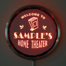 rs ph tm Custom LED Neon Round Signs 25cm 10 Inch Personalized HOME THEATER Sign RGB