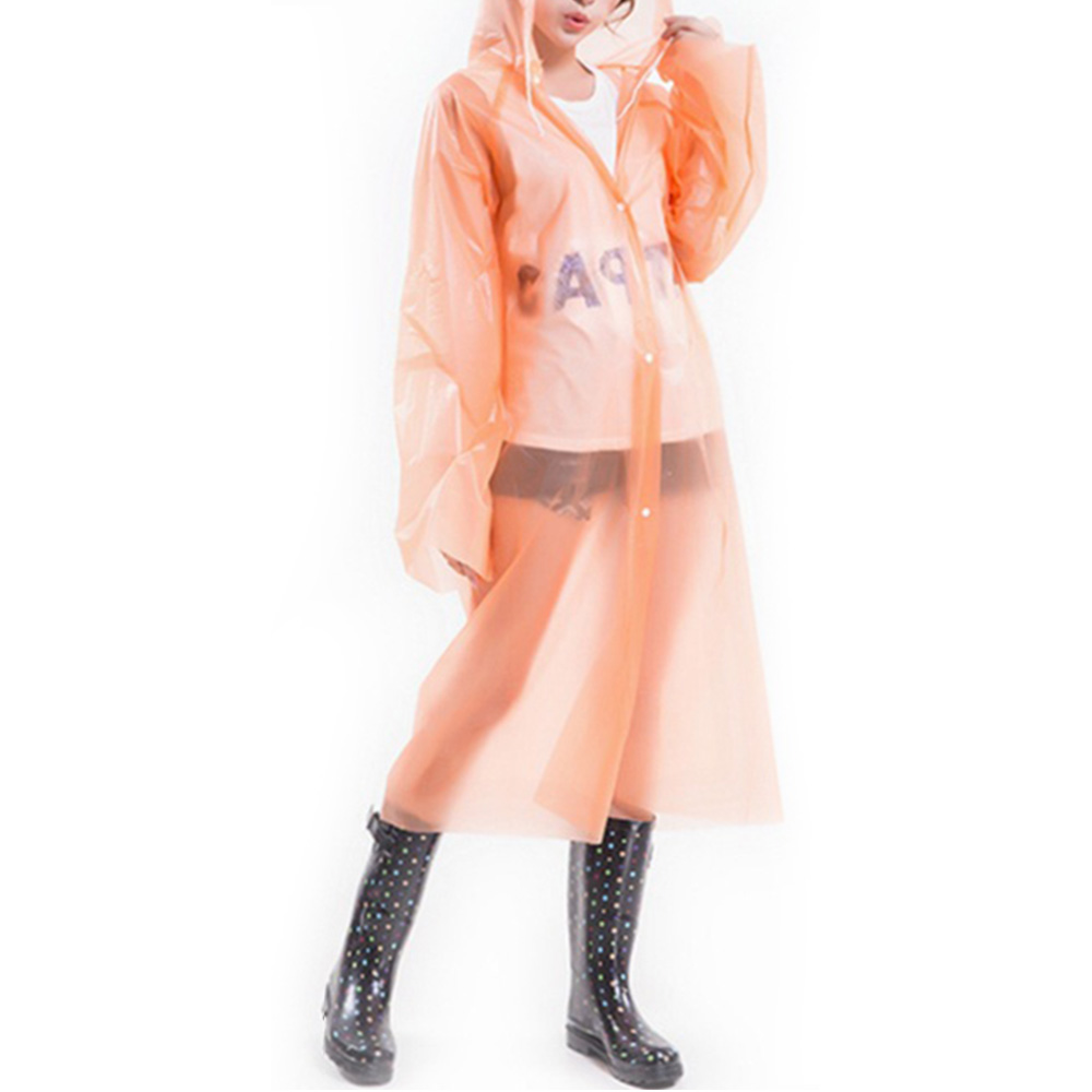 Men Women Waterproof Jacket PE Hooded Raincoat Rain Coat Rainwear Poncho