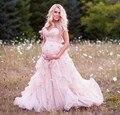 Милая 2016 Свадебные Платья Noiva Розовый Бальное платье Платья Материнства Новая Дешевые Люкс Свадебные Платья Для Беременных