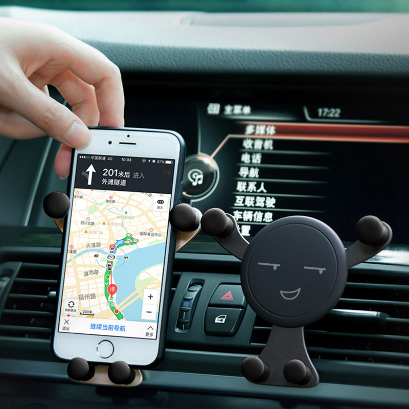 AUTO -Car Phone Holder Car Outlet Smartphone Holder Mobile Phone Stand Universal Air Vent Holder No Magnetic Car Phone Holder baseus universal air vent magnetic car mount phone holder