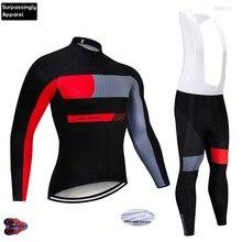все цены на 2019 Racing Team Cycling Jersey 9D Gel Pad Winter Thermal Fleece Long Sleeve MTB Suit Maillot Bike Clothing Ropa Ciclismo Wear онлайн