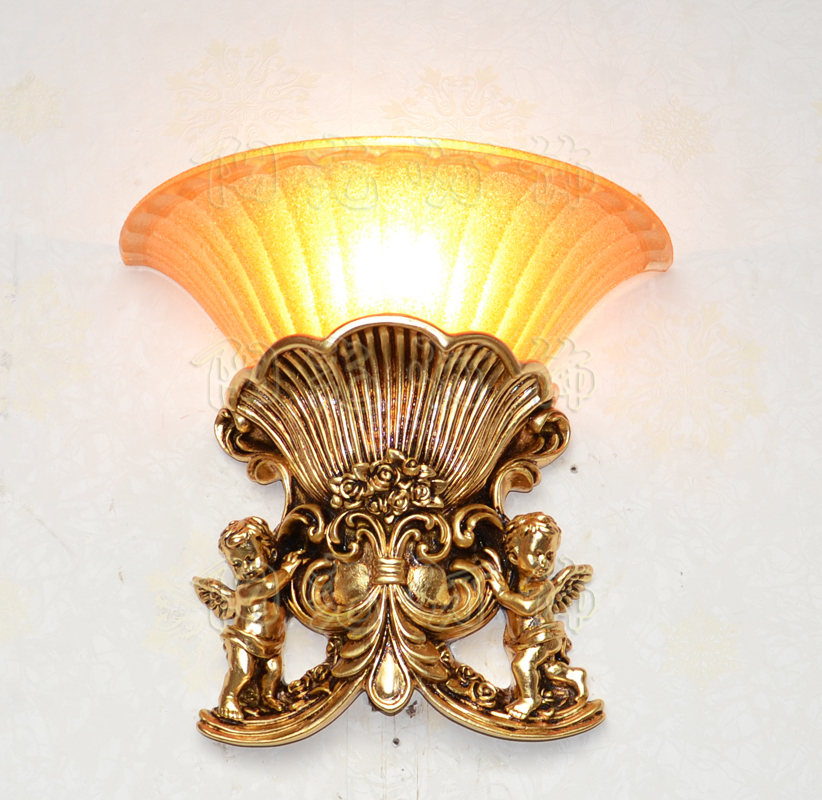 The New European Style Wall Lamp Living Room Bedroom Home Decorative Resin Bed Ktv Hotel Corridor Lighting In Urinals From