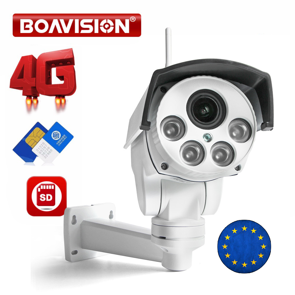 1080P 3G 4G PTZ IP Camera Outdoor Wifi SIM Card Camera P2P Support Micro SD Card Storage Wi-Fi Cam 5X 10X Zoom Lens CCTV Cameras