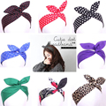0006-lovely accesorios hairbands del oído de conejo de conejito de rockabilly pinup vintage vestidos en multicolor