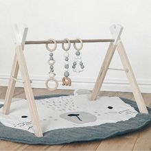 Soft Cotton Baby Kids Game Gym Activity Play Mat Crawling Blanket Rabit Floor Mat Bedroom