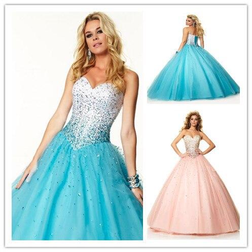 Pink ice prom dresses