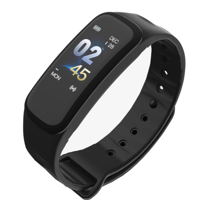 C1 Smart Bracelet fitness bracelet Dynamics Color Screen Waterproof Activity Heart Rate Monitor Blood Pressure Measurement smart washer sw c1
