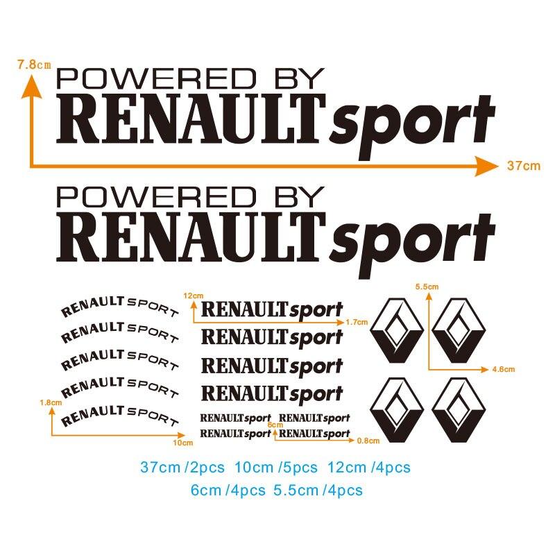 Renault Sport Sticker Decal clio zoe captur megane kadjar Sport Checkered Pair